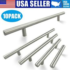 10Pack Brushed Nickel Kitchen Cabinet Pulls Stainless Steel Drawer T Bar Handles