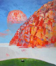 "NUOVO vitoldo laisonas originale tela ""Morning Fog"" surrealista dipinto ad olio"