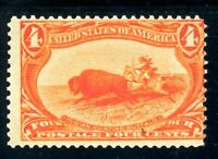 USAstamps Unused FVF US 1898 Trans-Mississippi Buffalo Hunting Scott 287 OG MNH