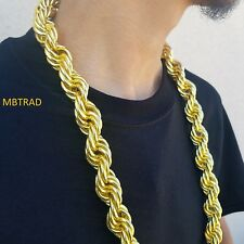 "36"" 30MM Huge Fat Dookie Rope Chain New"