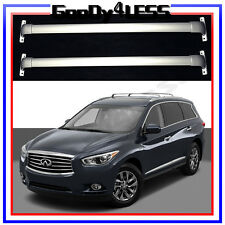 For 14-17 RoofRack Cross Bar BoltOn OEM Factory Style For Infiniti QX60 silver