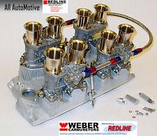 Small Block Chevy 283 327 350 Weber kit w/intake, linkage & genuine 44IDF webers