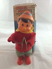 Vintage Wind Up Clockwork Musical Pinocchio w/Clashing Cymbals No. 5246