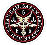 666 Hail Satan  / Pentagram Devil Black Magic   Sticker