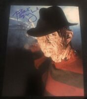 ROBERT ENGLUND SIGNED 8X10 PHOTO FREDDY KREUGER HANDS 5 W/COA+PROOF RARE WOW
