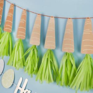 Carrot Tassel Garland   Peter Rabbit Easter 1st Birthday Party Decorations 2m