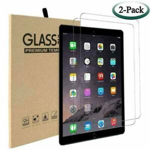 2 Pack Screen Protector Tempered Glass For Apple iPad Air 9.7 10.2 Pro 10.5 Mini