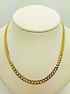 "9ct Yellow Solid Gold Curb Chain – 4.4mm - 20"" **** CHEAPEST ON EBAY ****"