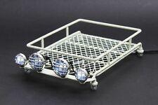 Jazrider 1/10 RC Car Crawler Truck Steel Luggage Roof Rack(White)w/LED Light(B)