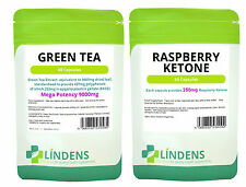 Raspberry Ketone + Green Tea 120 diet pills fat burner metabolism booster 30days