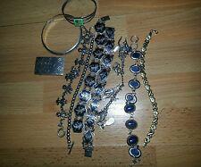 """VTG 6.75""""-7.25"""",MIX Sterling Silver 925 Bracelets and belt buckle total 152 gr"""