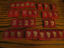 Stratego Wood Replacement Game Pieces  Red         #KV 10