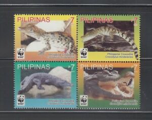 Philippine Stamps 2011 WWF Philippine Crocodile Complete set MNH