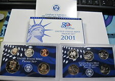 2001 S 10pc proof set blue box (#26ab)