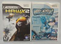 Army Men Soldiers + Clancy Hawx 2  -  Nintendo Wii Wii U Game Lot Complete