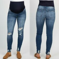18552ca4ee5b5 Women Pregnant Jeans Maternity Pants Denim Trousers Prop Belly Leggings  Clothes