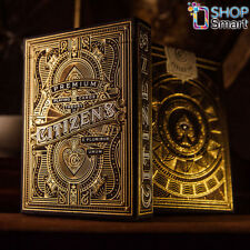 CITIZENS THEORY 11 LUXURY PLAYING CARDS DECK GOLD MAGIC TRICKS SEALED USA NEW