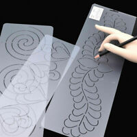 Plastic Quilting Stencil Painting DIY Craft Stencil Template Stitch Sew Clearly