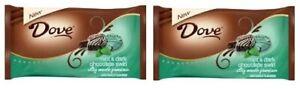 Dove Mint & Dark Chocolate Swirl Silky Smooth Promises Chocolate 2 Bag Pack