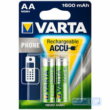 VARTA AA 1600mAh Rechargeable Phone, Camera, DECT Batteries Pack of 2