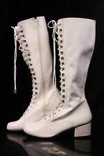 Fantasma Weiße Lack Retro-302 Stiefel Größe 43 Steampunk Cyber Punk Cosplay