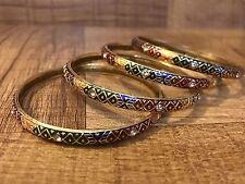 Indian Pakistani Ethnic Bollywood Gold Plated Polki Bangle Bracelet Kada Sz 2.4
