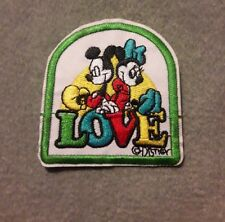 micky and minnie in LOVE patch iron on patch 7,5cm x 6 3/4cm