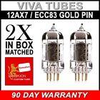New Matched Pair Reissue Genalex Gold Lion 12AX7 / ECC83 / B759 GOLD PIN FREE SH
