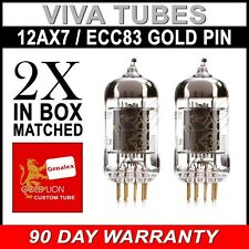 New Matched Pair Reissue Genalex Gold Lion 12AX7 / ECC83 / B759 GOLD PIN FREE SH