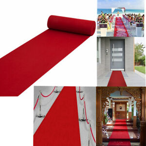 5/16/40ft Hollywood Party Decoration Red Carpet Floor Runner For Festive Wedding