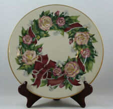 Lenox Sentiments of Roses Peace Collector's Plate, Stand and Certificate, Mib