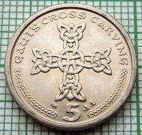 ISLE OF MAN 2001 AA 5 PENCE, CROSS, UNC