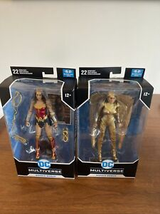 McFarlane toys Wonder Woman 1984 and Golden Armour action figures Dc Multiverse