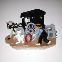 Amish Buggy Country Wall Plaque - Burwood molded plastic Homco Home Interiors