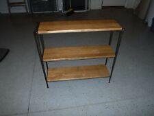 New listing Longaberger Wrought Iron 3 Tier Bookshelf w/ 2 Warm Brown Woodcraft Shelves
