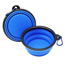 PET CAT KITTEN DOG PUPPY COLLAPSIBLE PET BOWL FEEDING WATER DISH STAND TRAVEL