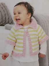 baby knitting pattern jumper 0  mths to 7 years 8 ply