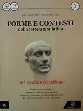 FORME E CONTESTI DELLA LETTERATURA LATINA 1 Conte LE MONNIER  9788800227513