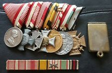 ✚8369✚ Austro-Hungarian Empire mounted medal grouping WW1 ribbon bar dog tag