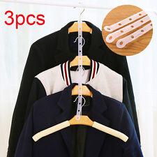 3pcs Closet Organizer Space Saver Magic Hanger Clothing Rack Clothes Strip