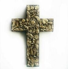 🇲🇽 Mexican Milagro Wood Cross - Large Size - Handmade - Piece of Art