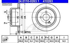 ATE Juego de 2 discos freno 258mm Para BMW 3 24.0110-0263.1
