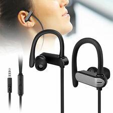 In-Ear Wired Sport Running Earphone Earbuds Over ear Hook Headphone 3.5mm w/Mic