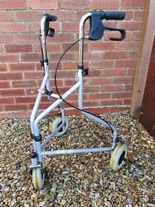 3 Wheeled Walker With Brakes Lightweight Foldable