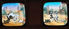 "2 Glass Magic Lantern Slides ""THE SWEEP & THE MILLER"" C1900 EDWARDIAN TALE"