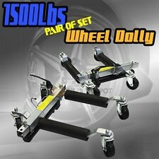 """2PC 1500LBS Car Dolly Hydraulic Lift Jack Air Roller Vehicle Positioning Tow 12"""""""