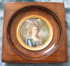 Miniature Portrait Noblesse Marie-Antoinette jeune par Brun ,fin 19-20eme,n°59