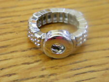 Petite SNAPS Silver Tone Stretch Ring for Interchangeable snaps