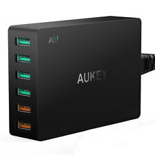 Aukey Multi-Port Mini Phone Wall Charger 6x USB QC3.0 Pro Quick Charge Station