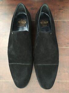 BNIB ALDO BRUE VELOUR NERO Men's Black Suede Loafers – US 11-D, UK - 45